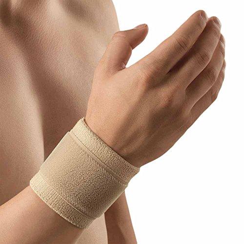 Bort ActiveColor Handgelenkbandage Klettverschluss Hand Gelenk Stütze Bandage, hautfarben, L