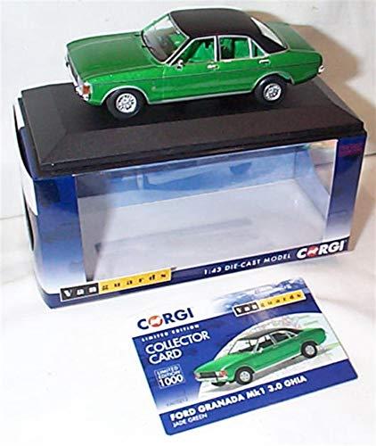 corgi vanguards ford granada MK1 3.0 ghia jade green car 1:43 scale diecast model