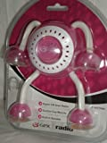GPX R1605 Pink FM Radio with Suction Cup Feet