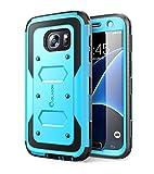 i-Blason Samsung Galaxy S7 Hülle Armorbox Hülle Outdoor Handyhülle Stoßfest Schutzhülle Cover mit integriertem Bildschirmschutz & Gürtelclip, Blau