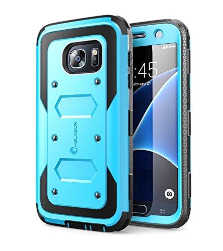 i-Blason Cover Galaxy S7 Custodia Rigida a 360 gradi Protezione per Display Integrata [Armorbox] Rugged Case per Samsung Galaxy S7 2016, Blu