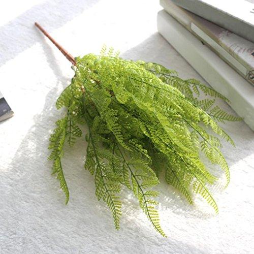 Xshuai® Fausse feuille de fougère artificielle, idéale pour mariage, anniversaire, Saint-Valentin, décoration de la maison (vert)