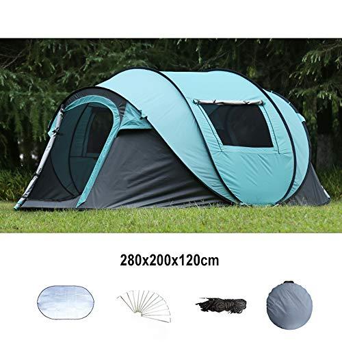 Tents Automatique de Camping de Plage Cabana - 5-8 Personnes - Portes des Deux côtés - Abri Solaire résistant à l'eau et aux UV - pour Le Beach Camping Randonnée Pêche