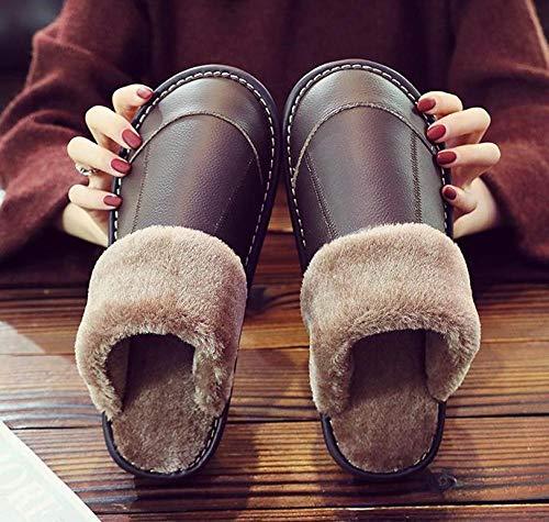Hedgehog, Squirrel, Indoor Wear-Resistant Warm Waterproof Men Women Winter Slippers Warm Indoor Home Fluffy Slippers Shoes@Hedgehog Brown_44-45 (Suitable for 43-44)
