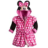 Disney Store Deluxe Minnie Mouse Bath Robe Towel for Baby Babies Pink 6-9 Months