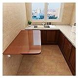 GHHZZQ Mesa Plegable Pequeña Montado En La Pared Tarea Pesada Escritorio de Mesa Plegable de Pared por Cuarto de Lavado/Bar En Casa/Cocina y Comedor (Color : A, Size : 70x50cm)