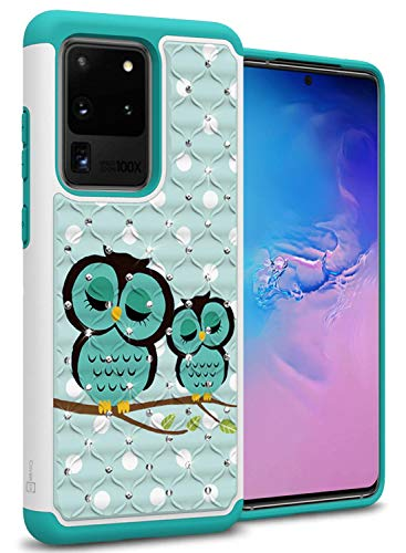 CoverON Bling Hybrid Aurora Series for Samsung Galaxy S20 Ultra Case - Cute Owl