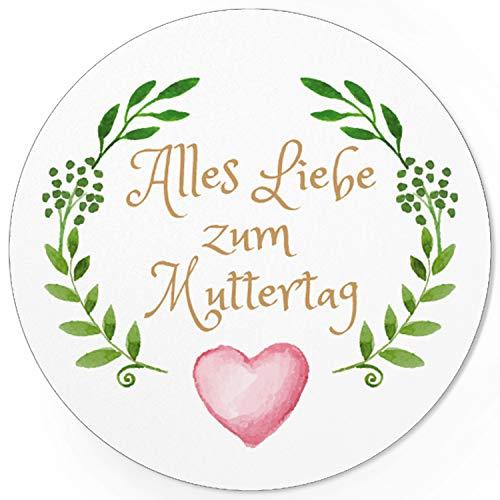 24 moderne Design Etiketten, rund/Vintage Aquarell Look/Muttertag/Liebe/Herzen/Mama Geschenk/Geschenk-Aufkleber/Sticker/für Firmen