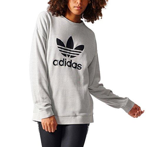 adidas Trefoil Sweater Sudadera, Mujer, Gris (Medgre), 36