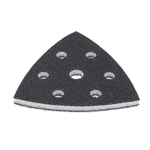 Softauflage für Deltaschleifer Schleifplatte 93x93x93 mm 6-Loch aus Schaum (weich), Interface-Pad soft für Schleifpapier Dreieckschleifer – DFS