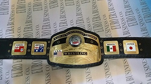 New Replica NWA Championship Belt Adult Size Metal Plates With Bag