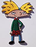Hey Arnold Embroidered Iron on Patch / Rare Nickelodeon Badge - Free Shipping!