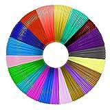 Filamento 3D PLA MISDUWA 20 colores en total 328 metros, cada uno de 5 m – 3D Pen filamento PLA 1,75 mm, juego de colores para lápiz 3D y lápiz de impresión 3D