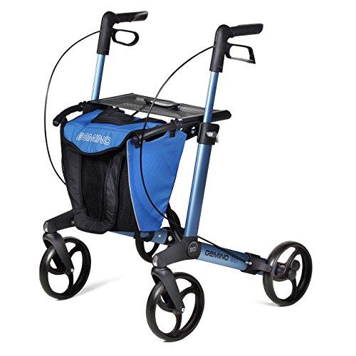 Gemino 30 Lichtgewicht Rollator Door V&A Gezondheidszorg Gemino 30S Middernacht Blauw