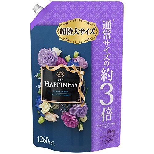 【大容量】 レノア ハピネス 柔軟剤 クラッシーフローラル 詰め替え 超特大 1260mL