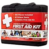 M2 BASICS 300 Piece (40 Unique Items) First Aid Kit | Free First Aid Guide | Emergency Medical Supply | for...
