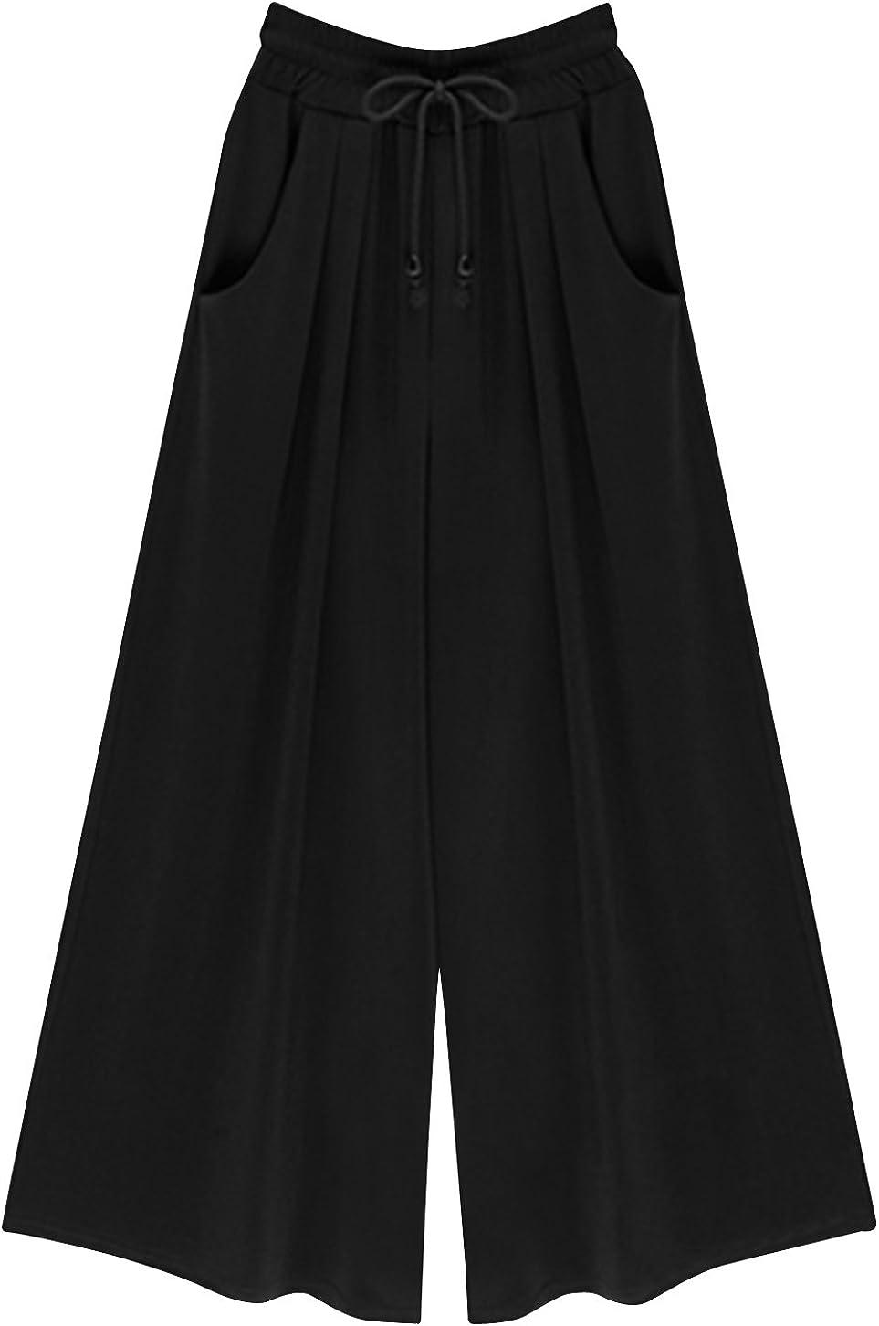 FEOYA Wide Leg Pants Casual High Waisted Palazzo Pants for Women Loose Style