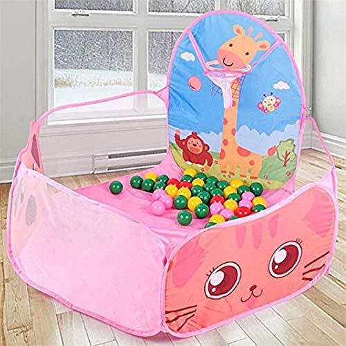 BHSHOP Bola Pit Piscina Crush Piscina de Bolas Juego de bebé Casa Bonito niños Juguete Carpa Parque Infantil Fácil Plegable portátil, Azul (Color : Pink)