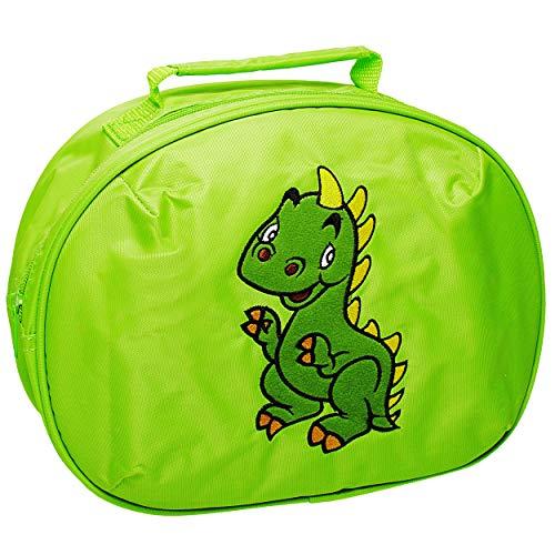 Belldessa Tasche / Reisetasche / große Kosmetiktasche - Dinosaurier - Dino grün für Kinder Jungen Handgepäck Kulturbeutel Kulturtasche Reisegepäck Waschtasche