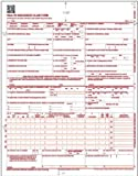 (Pack of 500) CMS 1500 Forms, HCFA 1500 Forms, Health Insurance Claim Form, Medicare Claims for Taxes, CMS 1500 Claim Forms 02/12