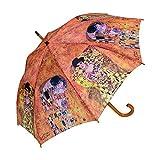 """Goebel - Stockschirm - Regenschirm """" Der Kuss """" Gustav Klimt"""
