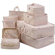 Travel Packing Cubes Set Toiletry Kits Shoe Bag JJ POWER Luggage Organizers