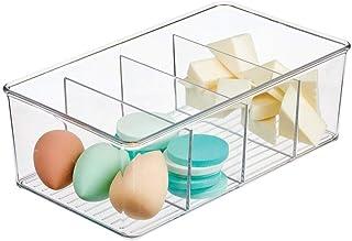 صندوق صندوق تخزين الحمام البلاستيكي من إم ديزاين - 4 أقسام - حامل صابون لليد، غسول الجسم، الشامبو، اللوشن، البلسم، منشفة ا...