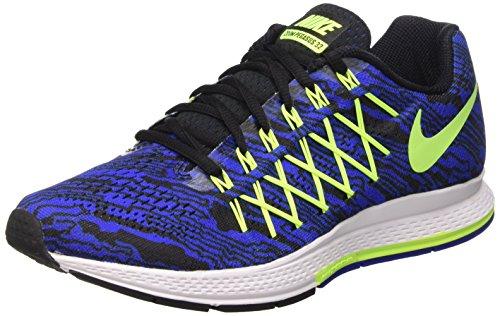 Nike Air Zoom Pegasus 32 Print, Zapatillas de Running para Hombre, Azul/Lima / Negro (Racer Blue/Volt-Black), 41 EU