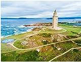 ZZXSY Puzzle Juguetes De Madera para Adultos 1000 Piezas Torre De Hércules O Torre De Hércules Es Un Antiguo Faro Romano En A Coruña En Galicia España Regalo Personalizado