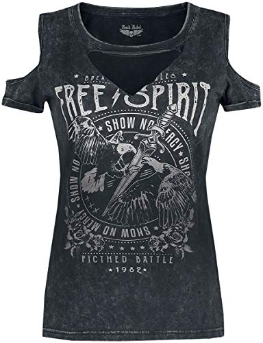 Rock Rebel by EMP Cut out Mujer Camiseta Gris XXL
