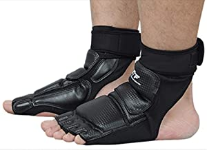 Wonzone Taekwondo Boxing Foot Protector Gear Martial Arts Training Sparring Gear Muay Thai Kung Fu Tae Kwon Do Feet Protector TKD Foot Gear Support for Men Women Kids