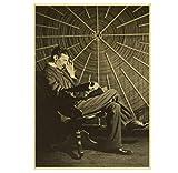 Hanyyj Poster Berühmte Wissenschaftler Nikola Tesla Retro