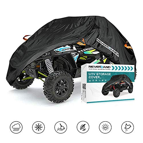 UTV Cover, Waterproof Material for Polaris Ranger Yamaha WOLVERINE Can-Am Honda Kawasaki Teryx Textron Off Road Wildcat 2-3 Passenger Black