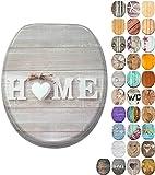 WC Sitz mit Absenkautomatik, viele schöne Holz WC Sitze zur Auswahl, hochwertige & stabile Qualität (Home)