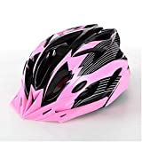 Huai1988 Casco de Ciclismo Para Adultos, Para Hombres Mujeres Casco de Bicicleta Color Negro Mate Ajustable para Adultos Protección de Monopatín Casco de Seguridad Protección de Montaña Unisex Rosado