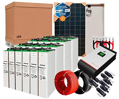 Kit Solar 48v 3600w/18000w día Inversor Multifunción 5kva Regulador MPPT 80A Batería 8TOPzS 1300Ah