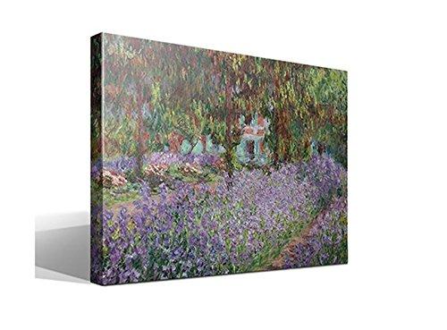 cuadro canvas Lirios en Jardin de Monet de Oscar Claude Monet - 40cm x 55cm