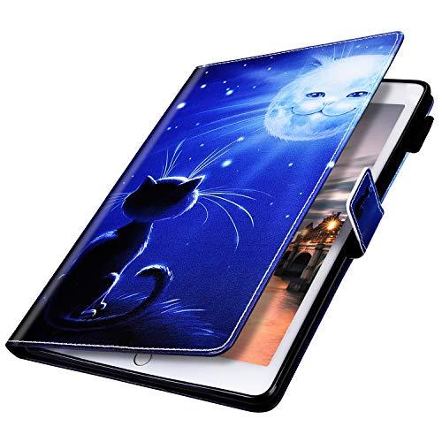 MoreChioce Compatible avec Coque Huawei MediaPad M5 10.8,Coque Huawei MediaPad M5 10.8 Housse de Protection,Jolie motif Lune Smart Cover Stand Flip Tablette Case Portefeuille Magnétique