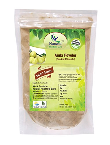 100% Natural Amla Powder By Natural Healthlife Care (Indian Gooseberry/Emblica Officinalis (100 gm (0.22 lb) 3.5 ounces)