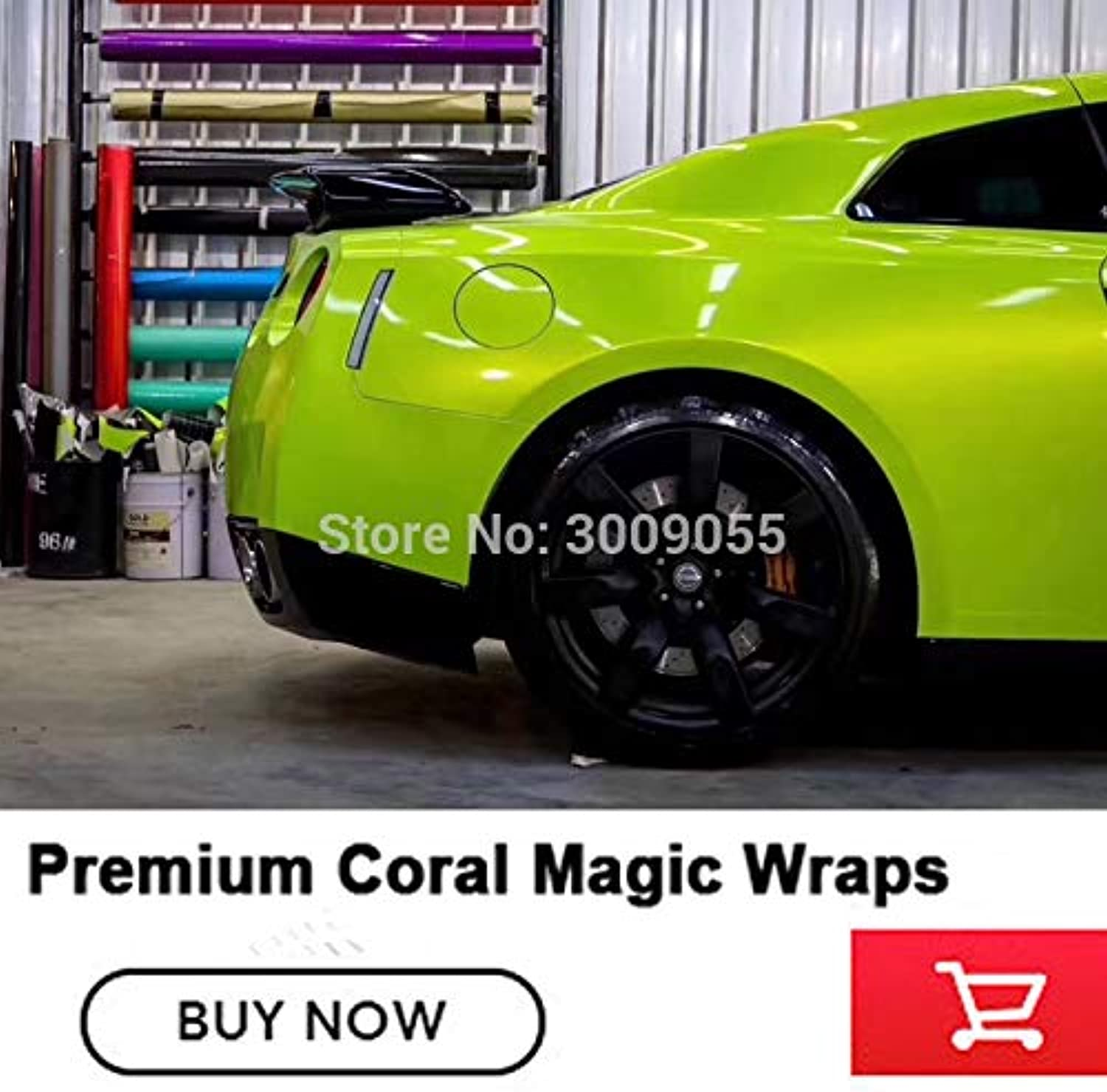 Highend Coral Series Fluorescence Vinyl Wraps Film air Release Best Low Initial tack Reject Low end Product  (Size  1.52m X 5m)