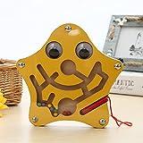 FunnyGoo Mini Bolígrafo Conducir Bolas de Madera Laberinto Imán Laberinto Niños Navidad (Estrella)