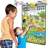 Just Smarty Happy Zoo Interactive Poster for 3-5 Year Old Boys and Girls. Best Animal and Counting Educational Toy for Toddlers with Music, Animal Sounds and Games. Daycare, Preschool Activity Toy