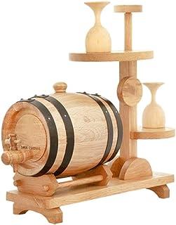 Yuan vinification futs Tonneaux en chêne Massif Tonneaux en Bois Massif 1.5L Porte-gobelets en Forme de fût