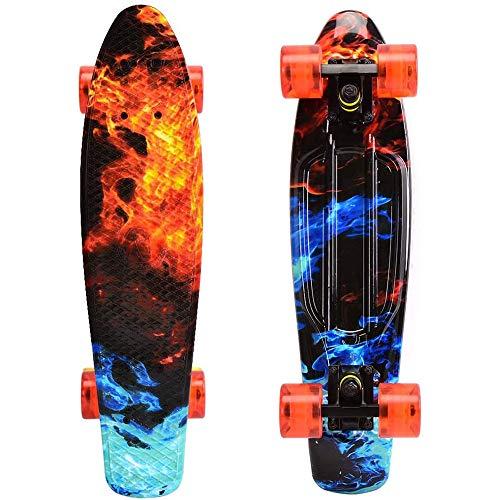 WonderTech Mini Skateboard Kinder Penny Board Cruiser Board für Jungs, Mädchen und Jugendliche