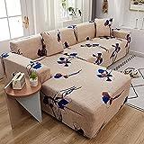 ASCV Funda de sofá para sofá de Todos los tamaños Funda de sofá elástica Universal para Sala de Estar Protector de Cubierta Decorativa A1 2 plazas