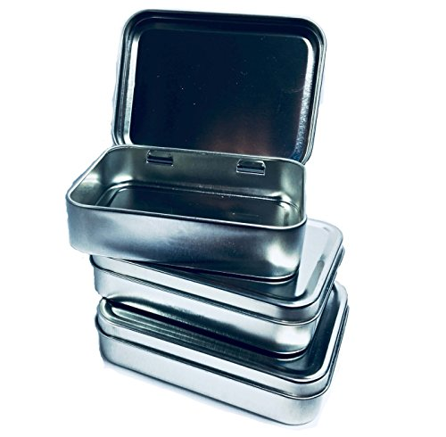 Larger Rectangular Tin Box Container