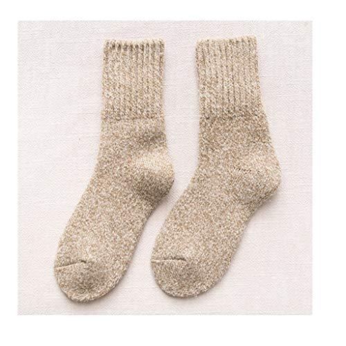 SJJOZZ Socken Plus Velvet Dicker Wolle Socken Female High Content Cashmere Warme Socken Geeignet for Herbst Und Winter Schlaf Strümpfe/DREI Farben Optional (Color : B)