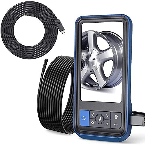 Teslong Dual Lens Inspection Camera, 4.5 inches Screen Endoscope-Borescope with 32GB Card, 16.4ft & 9.84ft Waterproof Cable, HD Display Screen, 6 LED Lights, IP67 Waterproof