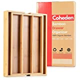 Bamboo Expandable Drawer Organizer by Coheden -...