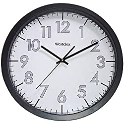 Westclox 14 Round Office Wall Clock, Black